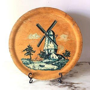 🆕 Listing!  Vintage | Dutch Wooden Platter